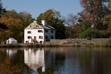 Historic Manor House, Philipsburg Manor, NY Stock Photos