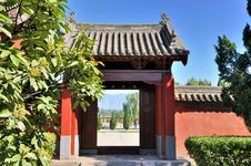 Door And Court View Of Chinese Garden Stock Photography