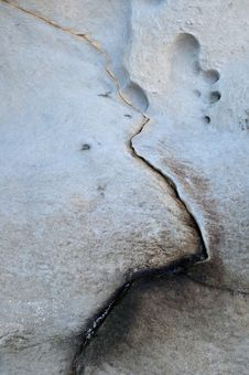 Abstract Cracked Rock Royalty Free Stock Photos