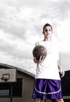 Free Young Stylish Basketball Player Stock Images - 16679794