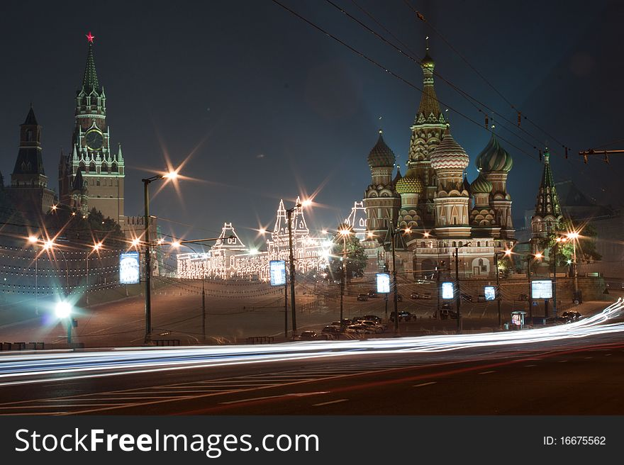 Moscow Red square at night