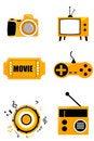 Free Media Icons Stock Photo - 16684460
