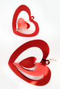 Free Red Shiny  Hearts Royalty Free Stock Image - 16684746
