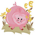 Free Piggy Bank,euro Royalty Free Stock Images - 16685229