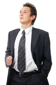 Free Portrait Of A Young Ambitious Business Man Royalty Free Stock Image - 16680356