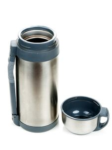 Free Steel Thermos With Cup Insulated Stock Images - 16681204