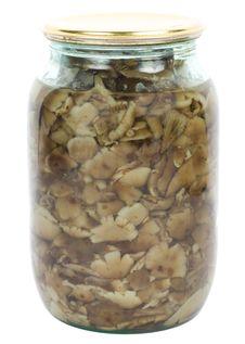 Free Marinated Mushrooms In Jar Royalty Free Stock Photos - 16681558