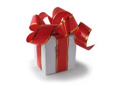 Free White Box With Red Bow Stock Image - 16682581
