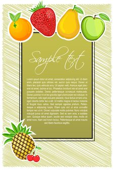 Free Abstract Fruit Text Template Royalty Free Stock Images - 16684479