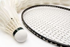 Free Row Of Shuttlecocks With  Racket Stock Images - 16684494