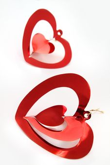 Free Red Shiny  Hearts Royalty Free Stock Image - 16684746