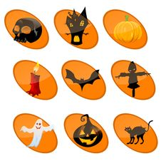 Free Elememts Of Halloween Royalty Free Stock Image - 16684786