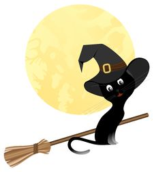 Free Black Cat Royalty Free Stock Image - 16685806