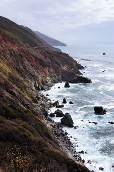 The Big Sur Coastline In California. Stock Photo