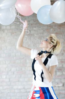 Free Play With The Baloons Royalty Free Stock Image - 16686036