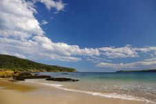 Congwong Bay Beach With Blue Sky Royalty Free Stock Images
