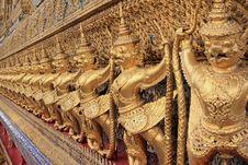 Golden Garuda At Wat Phra Keao Temple, Bangkok Tha Stock Images