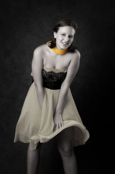 Free Young Woman In A Dress Royalty Free Stock Photography - 16687067