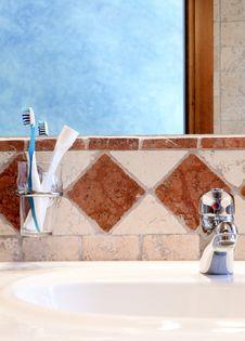 Detail Of Classic Bathroom Interior Stock Image
