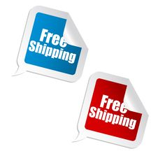 Free Free Shipping Sticker Royalty Free Stock Photo - 16687775