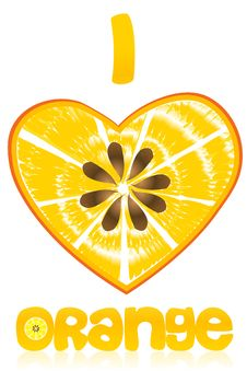 Free I Love Orange Royalty Free Stock Image - 16687796