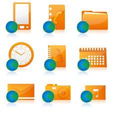 Free Office Icon Set Royalty Free Stock Photography - 16687837