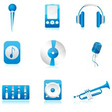 Free Set Of Musical Component Stock Image - 16687841