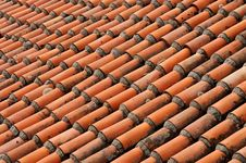 Traditional Roof Tiles Stock Photo