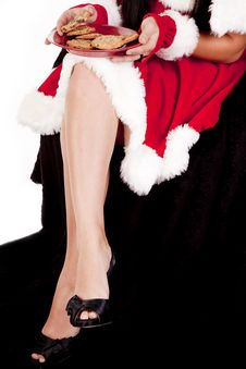 Christmas Legs And Cookies Royalty Free Stock Photo