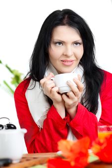 Free Beautiful Woman  In Cafe Stock Photography - 16688992