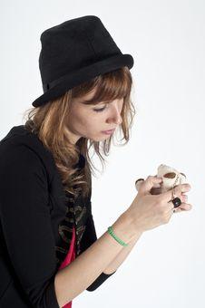 Free Masked Blonde Girl Posing Stock Photos - 16689063