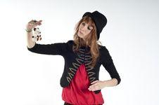 Free Masked Blonde Girl Posing Stock Photo - 16689200