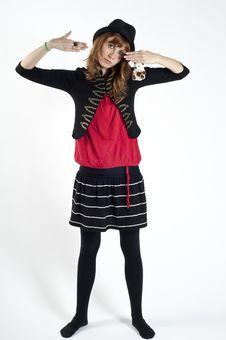 Free Masked Blonde Girl Posing Stock Photo - 16689290