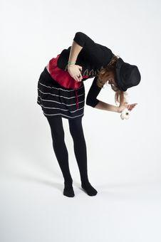 Free Masked Blonde Girl Posing Stock Images - 16689364