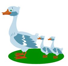 Free Goose With Small Goose Stock Images - 16689584