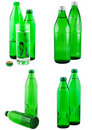 Free Water In Bottles Isolated White. A Set. Stock Photo - 16690810