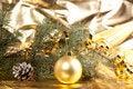 Free Golden Christmas Ball Stock Photos - 16690813