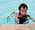 Free Angry Boy In Pool Royalty Free Stock Images - 16695099