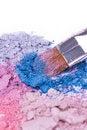 Free Make-up Brush On Crushed Eyeshadows Royalty Free Stock Photo - 16696225
