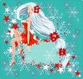 Free Sexy Santa Girl Card Royalty Free Stock Photography - 16696967