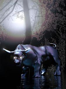 Mythic Bull Royalty Free Stock Image