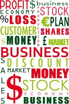 Business Word Collage Stock Photography