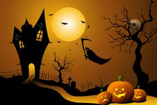 Free Ghost Flying In Halloween Night Royalty Free Stock Photography - 16690527