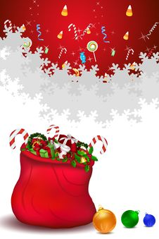Free Santa Bag Full Of Gifts Stock Photo - 16690700