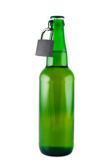 Free Beer, Bottle, Padlock Isolated. Royalty Free Stock Photography - 16690957
