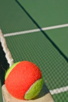Tennis Ball And Shadow Net Stock Images