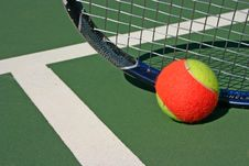 Free Tennis Ball And Racket Royalty Free Stock Image - 16692316