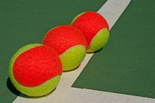 Free Three Balls On A Green Court Stock Images - 16692394