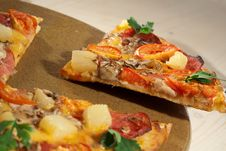 Free Hot Taste Pizza On The Table Royalty Free Stock Photo - 16693555