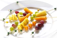 Free Different Sort Of Fruit Canape Royalty Free Stock Photography - 16693727